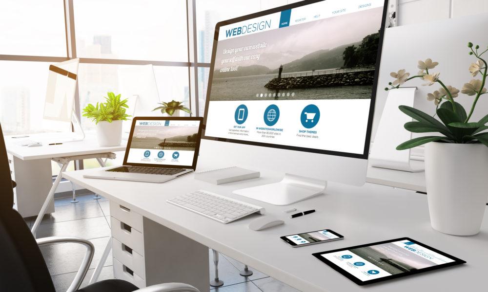 Modern web design screen devices